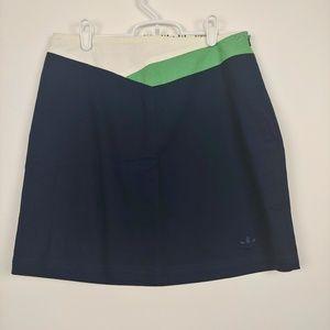 Adidas Navy w/ Green & White Cotton Skirt Size S